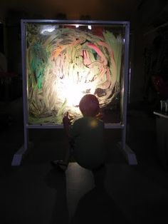 painting on an illuminated easel - for kids
