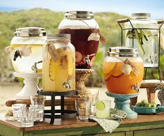 Add yummy fruits to water, lemonade and sweet tea to make it look pretty