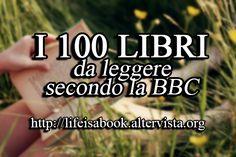 La BBC afferma che la maggior parte delle persone ha letto solo 6 dei 100 libri presenti nella seguente lista. Istruzioni: Commenta incollando la lista e
