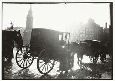 Rijtuigen op de Dam in Amsterdam, George Hendrik Breitner, Harm Botman, c. 1890 - c. 1910