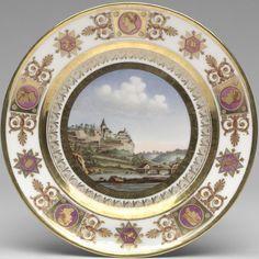 Sevres Porcelain Service des Vues Suisse