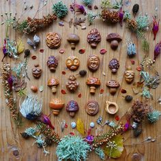 """The last of my pieces that will be available before Christmas, all of which are in my 20% sale this weekend (until Monday midnight) - use coupon code """"LEAFYBEARD20"""" at checkout to avail of the offer  lots of mushrooms, a forest sprite, two female Forest Guardians, a Celtic Knotwork piece, two Venus of Willendorfs, a Kuksa fairy cup and a Sheela na Gig   I hope to make a couple of figurines in the coming weeks which won't be part of this sale being brand new work - a sneak peek of what I..."""