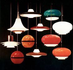 Décoration Mid Century, Mid Century Decor, Mid Century Design, Lounge Lighting, Vintage Lighting, Modern Lighting, Lampe Retro, Retro Lamp, 70s Decor