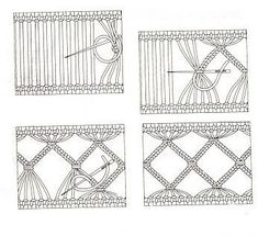 Hardanger Embroidery Patterns Drawn thread work (via Stacy Mishina, Embroidery: Retichello / Hemstitch / drawn thread / Needle lace Hardanger Embroidery, Learn Embroidery, Hand Embroidery Stitches, Embroidery Techniques, Cross Stitch Embroidery, Embroidery Patterns, Cross Stitches, Loom Patterns, Drawn Thread