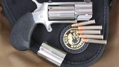 revolver,derringer,North American carry,self-defense Has to be the magnum!--If you can smell their breath, SHOOT! (Up close and personal) Concealed Carry Weapons, Weapons Guns, Guns And Ammo, Rifles, North American Arms, Single Action Revolvers, Pocket Pistol, Firearms, Shotguns