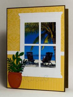 Window to the Sea by AbbysGrammy - Cards and Paper Crafts at Splitcoaststampers