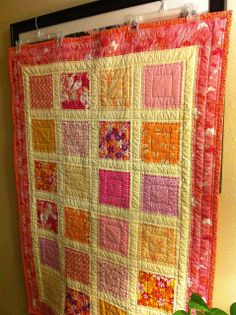 Lilly's window pane quilt | Flickr - Photo Sharing!