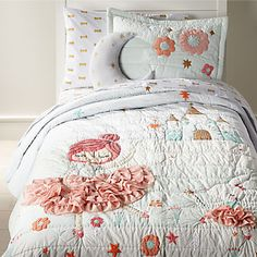 Sale ends soon. Our Ballerina Bedding is ready to dance and twirl into the nearest kids room. The dreamy quilt features princess and bunny ballerinas, plus an enchanting castle in the background. Cama Full, Girls Bedroom, Bedroom Decor, Bedroom Ideas, Bedroom 2018, Bedroom Inspiration, Master Bedroom, Ballerina Bedroom, Dinosaur Bedding