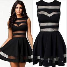 Love me a see through black sexy dress