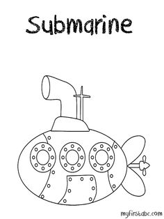 Submarine Online Coloring Page transportation coloring pages
