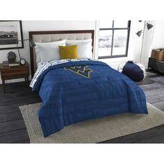 Ncaa West Virginia Mountaineers Anthem Twin/Full Bedding Comforter, Multicolor