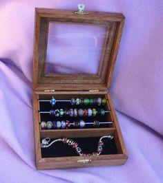square Pandora & Trollbead Bead Box with compartment