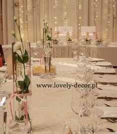 Deokracje stołu weselnego  #flowers #wedding #decor #ślub #wesele #dekoracje