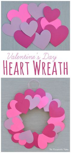 Plate Valentine's Day Heart Wreath Craft Kids can help decorate for Valentine's Day with this paper plate heart wreath craft.Kids can help decorate for Valentine's Day with this paper plate heart wreath craft. Valentine's Day Crafts For Kids, Valentine Crafts For Kids, Valentines Day Activities, Craft Day, Valentines Day Hearts, Valentines Day Decorations, Valentines Diy, Holiday Crafts, Valentine Wreath