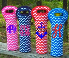 Monogrammed Chevron Wine Bottle Koozie by MSMudpieBoutique on Etsy https://www.etsy.com/listing/155586291/monogrammed-chevron-wine-bottle-koozie