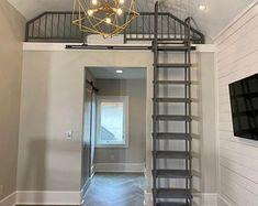9 ft Loft ladder, Librarian (shipping is ABF trucking loading dock to AFB loading dock ) Tiny Loft, Ladder, Loft Ladder, Loft Railing, Loft Room, House, Home, Loft Stairs, White Kitchen Island