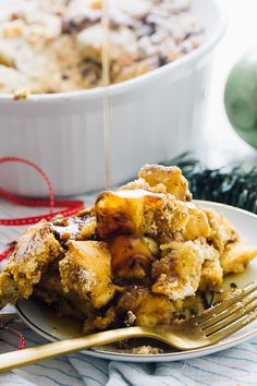 This Overnight Baked French Toast Casserole is always a complete hit! It's vegan, takes 15 minutes of prep and each bite is loaded with deliciousness!