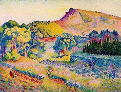 Landscape with Cape by Henri-Edmond Cross | Lone Quixote | #HenriEdmondCross #cross #impressionism #pointilism #art #landscape #pink #arte #artists #artwork #atx #txst