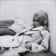 The 40 Chicest Women in Trench Coats of All Time: Brigitte Bardot, 1963