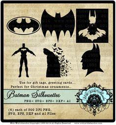 Batman Silhouettes, Batman Vectors, Batman svg, ai, svg, eps,dfx Superhero Clipart