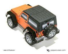 Jeep JK Rubicon paper model | papercruiser.com
