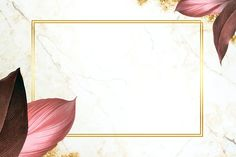 Rectangle foliage frame on white marble background vector | premium image by rawpixel.com / Adj Framed Wallpaper, Flower Background Wallpaper, Cute Wallpaper Backgrounds, Flower Backgrounds, Background Patterns, Textured Background, Backgrounds Marble, Wallpapers, Flower Girl Photos