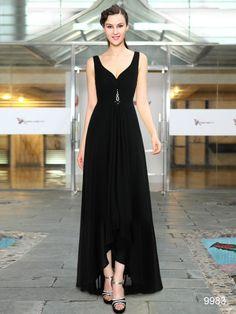 流行の前後丈違い! ブラック系ロングドレス♪ - ロングドレス・パーティードレスはGN|演奏会や結婚式に大活躍!