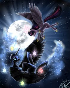 Nightmare Fall by KitsuneHino.deviantart.com on @deviantART~ Twilight witnesses the fall of Nightmare Moon in S4 E1, and she is distraught, thinking it its real.