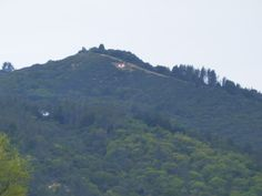 """The """"U"""", Ukiah, CA. memories.  Hiked up there. iddy biddy...no adults. everybody did."""