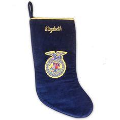 Corduroy Christmas stocking with FFA emblem. http://shop.ffa.org/corduroy-christmas-stocking-p42421.aspx