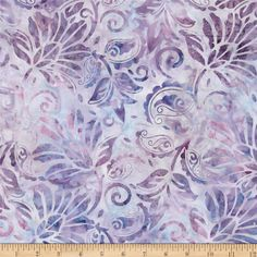 Batavian Batiks Floral Tapestry Blue/Purple from @fabricdotcom  Designed for South Sea Imports, this Indonesian batik fabric is perfect for quilting, apparel and home decor accents. Colors include teal, lilac and purple.