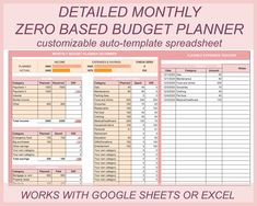 Monthly Budget Spreadsheet, Budget Planner Template, Budget Templates, Personal Financial Planner, Bill Planner, Budget Organization, Financial Organization, Budgeting Worksheets, Budgeting 101