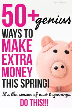 Want to make extra money? You are in the right place! This list of 50+ awesome ways to make extra money helps you earn money today and keep earning money into the future! Make money | make extra money | side hustles | work at home job | make money online | retire early