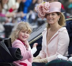 Sophie, the Countess of Wessex, with daughter Lady Louise Mountbatten-Windsor.