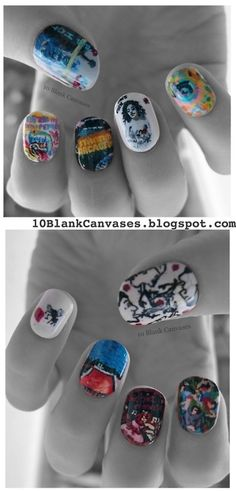 Coolest nails ever. Doin it for some major event in my life. Ode to Red Hot Chili Peppers