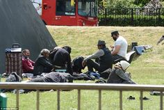 Sleeping rough: More than 70 migrants are now said to be sleeping rough close to Marble Ar...