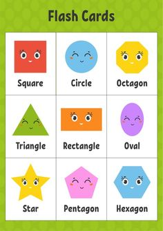 Premium Vector   Flash cards. learning shapes. education developing worksheet. activity page for kids.