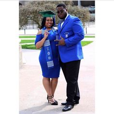 Loving this photo of a Zeta Phi Beta soror and Phi Beta Sigma bruh!! Show off your sorority or fraternity with kente graduation and greek stoles from SankofaEdition.com #sankofa #zphib #gomab