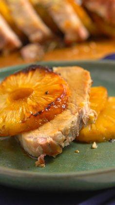 Lombinho de porco com abacaxi super macio e gostoso para agradar a família toda!