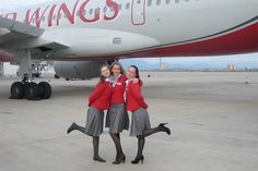 Red Wings is an airline based in Moscow , Russia . The airline provides both scheduled passenger and cargo charter services. Airline Cabin Crew, Female Pilot, Busy At Work, Girls Uniforms, Flight Attendant, World Best Photos, Aircraft, Wings, Sensible Shoes