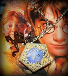Be the lucky owner of this gorgeous Fanmade Harry  Potter Inspired Piece of Jewelry! Show your support for the 'Chosen One'!  This Necklace has a handmade Polymer clay charm that dangles from it's cen