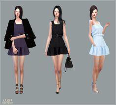 Sleeveless Mari Dress for The Sims 4