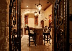Love the wrought iron doors