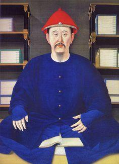 康熙 Emperor Kangxi reading. 1699年康熙帝读书像(45岁)