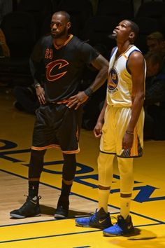 Lebron James and Kevin Durant- Golden State Warriors