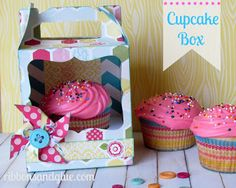 Every Day Cupcake Box... - Ribbons & Glue