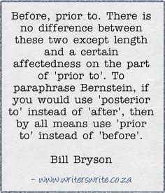 Quotable – Bill Bryson | Writers Write