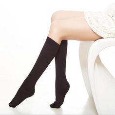 2 Pair Thick Thermal Fleeced Knee High Socks