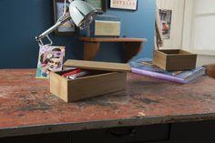 Grande boîte à couvercle en bois « Vintage »