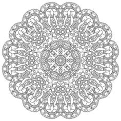 High Resolution Mandala Coloring Image for Stress Relief   Free Download   (PDF Format)     Happiness never decreases by being shared.  --Buddha